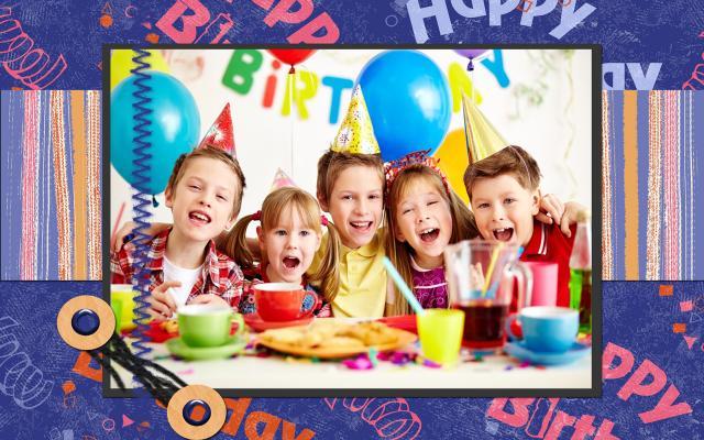 Agregar marcos de cumpleaños a tus fotos