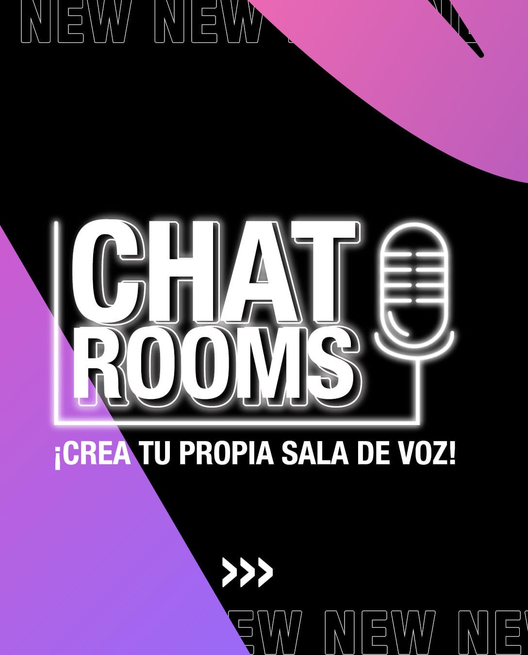 Logo de chat rooms, la nueva funcionalidad de la app Blued