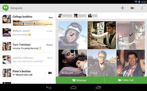 hangouts-contacts