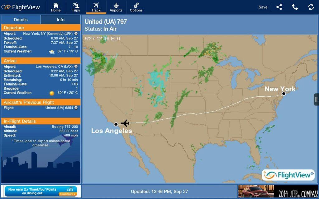 Monitorea tus vuelos con FlightView