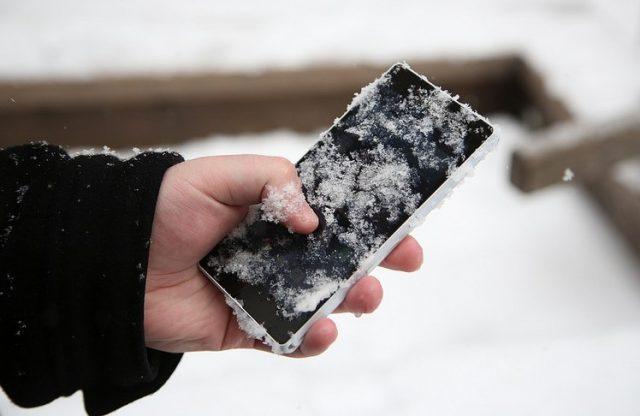 batería congelada