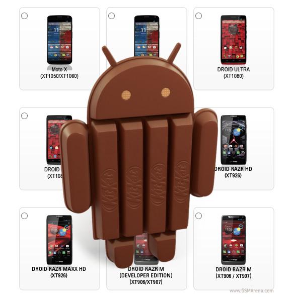 Motorola confirma 10 smartphone con Android KitKat